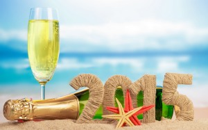 Beach-2015-Happy-New-Year-Champagne-Images